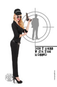 Girls Mixed Media - Dont Mess With The Mossad by Pin Up  TLV