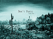 Digitally Enhanced Posters - Dont Panic Poster by Anastasiya Malakhova