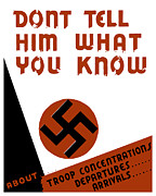 Wpa Framed Prints - Dont tell him what you know Framed Print by War Is Hell Store