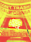 Yellow Bridge Digital Art Posters - Dont Trash Califonia Poster by Molly McPherson