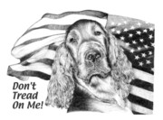 Stars And Stripes Drawings - Dont Tread On Me by Carole Raschella