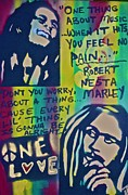 First Amendment Paintings - Dont You Worry by Tony B Conscious