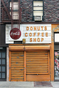 Street Sculptures - Donuts Coffee Shop - New York Store Front Sculpture by Randy Hage