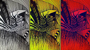 Tryptych Digital Art - Doodle by Susan  Solak