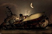 Old Shipwreck Photos - Doomed to Gloom by Lourry Legarde