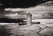 Eerie Framed Prints - Doonagore Tower Framed Print by Simon Marsden