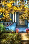 Fall Scenes Posters - Door - Gorgeous Victorian  Poster by Mike Savad