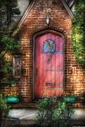 Red Brick Posters - Door - Sweet as Gingerbread  Poster by Mike Savad