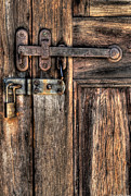 Door - The Latch Print by Mike Savad