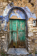 Agios Isidoros  Framed Prints - Door 5 Framed Print by Emmanuel Panagiotakis