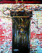 Brick Paintings - Door by Arleana Holtzmann
