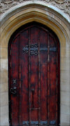 European Church Acrylic Prints - Door At Bath Abbey Acrylic Print by Tony Grider