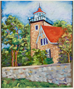 Lighthouse Pastels - Door County Lighthouse by Pat Olson