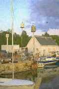 Door County Marina  Print by Renee Skiba