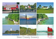 Peter L Wyatt Metal Prints - Door County Scenery 1 - Poster  Metal Print by Peter L Wyatt