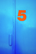 Blue Prints - Door Five Print by Carlos Caetano