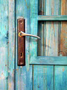 Rustic Metal Prints - Door Handle Metal Print by Carlos Caetano