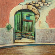 Southern France Mixed Media Framed Prints - Door II Framed Print by Pamela Iris Harden