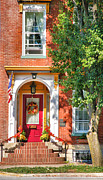 Southern Indiana Photo Metal Prints - Door In Historic District I Metal Print by Steven Ainsworth