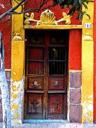 Tlaquepaque Prints - Door in the House of Icons Print by Olden Mexico
