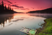 Twilight Framed Prints - Door In the Lake Framed Print by Evgeni Dinev