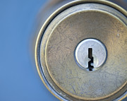 Blue Knob Photos - Door Knob and Keyhole by Thom Gourley/Flatbread Images, LLC