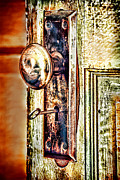 Entrance Door Photos - Door Knob With Key by HD Connelly