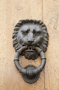Representations Prints - Door knocker - metal lion head Print by Matthias Hauser