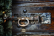 Wood Castle Framed Prints - Door Latch Framed Print by Joana Kruse