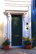 Green Door Prints - Door Nr 134 in Charleston SC Print by Susanne Van Hulst