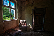 Haunted Home Framed Prints - Door opens onto the sofa Framed Print by Nathan Wright