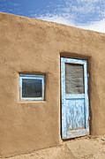 Pueblo De Taos Acrylic Prints - Door to An Adobe Building Acrylic Print by Bryan Mullennix