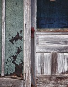 Building Digital Art Originals - Door with Blue Pane by Michael Thomas