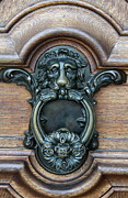 Bronce Metal Prints - Doorknocker Lionshead Metal Print by Christiane Schulze