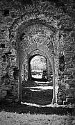 Church Ruins Photos - Doors at Ballybeg Priory in Buttevant Ireland by Teresa Mucha