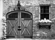 Jeff Holbrook Metal Prints - Doors Bricks and Window Metal Print by Jeff Holbrook
