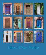 Adobe Architecture Framed Prints - Doors of New Mexico Framed Print by Heidi Hermes