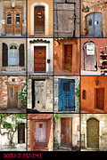 France Doors Prints - Doors of Provence Print by Steve Goldstrom