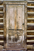 Old Wood Cabin Posters - Doors of St Elmo II Poster by Ellen Lacey