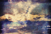 Clouds Scape Prints - Doors To Another World Abstract Print by Zeana Romanovna
