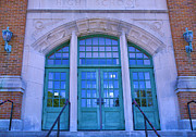 Entrance Door Photos - Doors To Old High School  by Steven Ainsworth