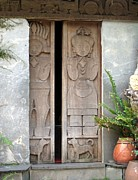Bas-relief Posters - Doors with Carvings Poster by Yali Shi