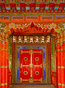 Tibetan Buddhism Prints - Doortibetan Temple China Print by Luis Castaneda Inc.