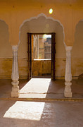 Hindi Metal Prints - Doorway and Arch in the Amber Fort Metal Print by Inti St. Clair