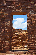 Abandoned Buildings Framed Prints - Doorway in Stone Wall Framed Print by Thom Gourley/Flatbread Images, LLC