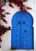 Tunisia Prints - Doorway In Tunisia 1 Print by Bob Christopher