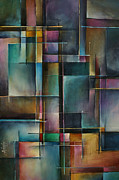 Rectangles Paintings - Doorway to... by Michael Lang