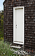 Nauset Beach Metal Prints - Doorway with Daisies Metal Print by Michelle Wiarda
