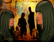Signed Mixed Media Metal Prints - Doppelganger Metal Print by Chuck Staley