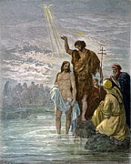 Baptism Photos - DorÉ: Baptism Of Jesus by Granger